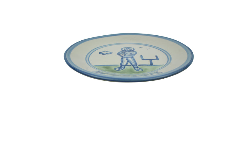 "Personalized 9"" Plate - Boy Football Player"