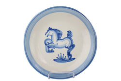"9"" Lunch Plate - Blue Horse"