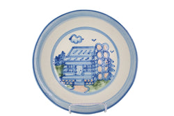 "9"" Lunch Plate - Log Cabin"