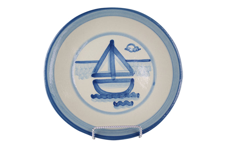 "9"" Lunch Plate - Sailboat"
