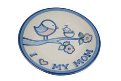 "9"" Lunch Plate - Mama Baby Bird"
