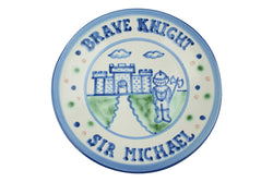 "Personalized 9"" Plate - Brave Knight (1 line)"