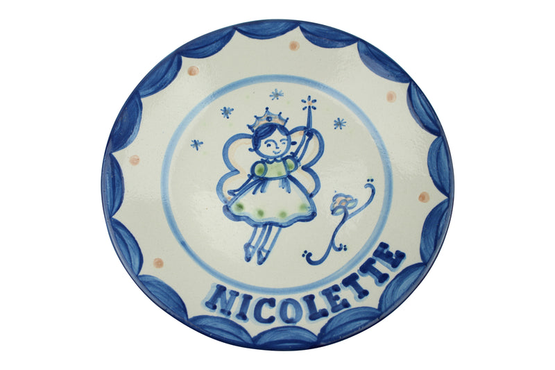 "Personalized 9"" Plate - Fairy (1 line)"