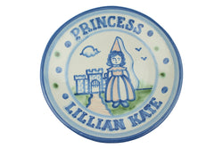 "Personalized 9"" Plate - Princess (1 line)"