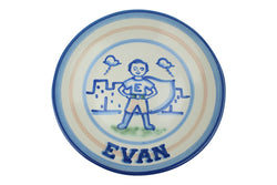 "Personalized 9"" Plate - Superhero (1 line)"