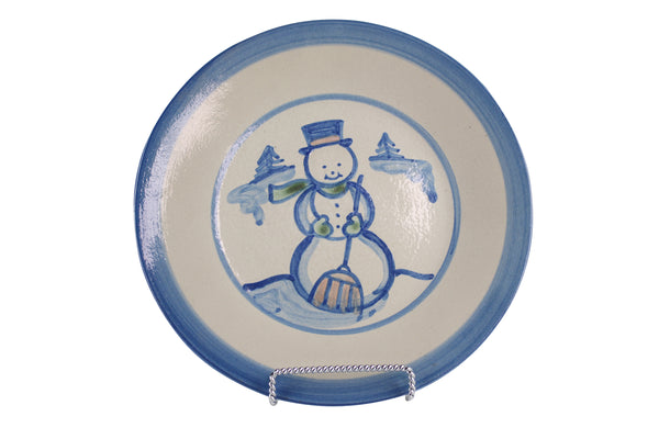 "9"" Lunch Plate - Snowman"