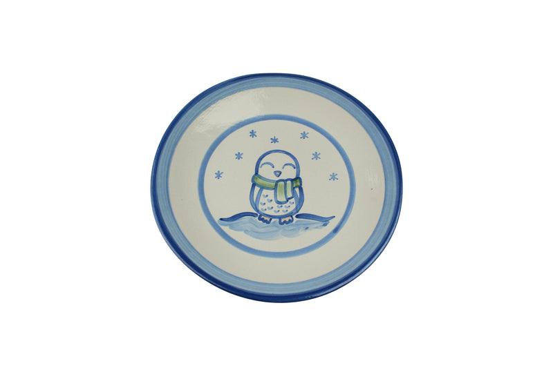 "9"" Lunch Plate - Snowy Owl"