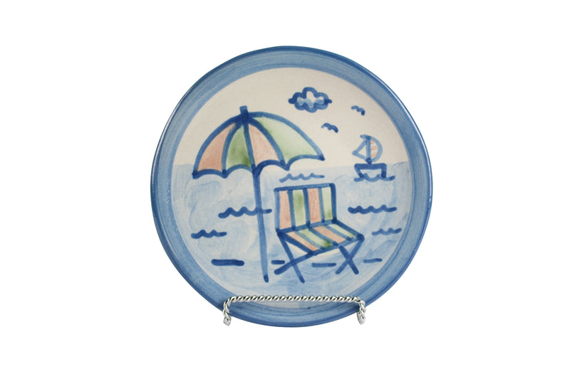 "6"" Bread Plate - Beach Umbrella"
