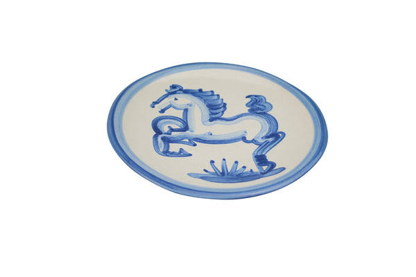 "6"" Bread Plate - Blue Horse"