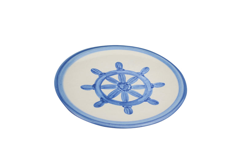 "6"" Bread Plate - Ship'S Wheel"