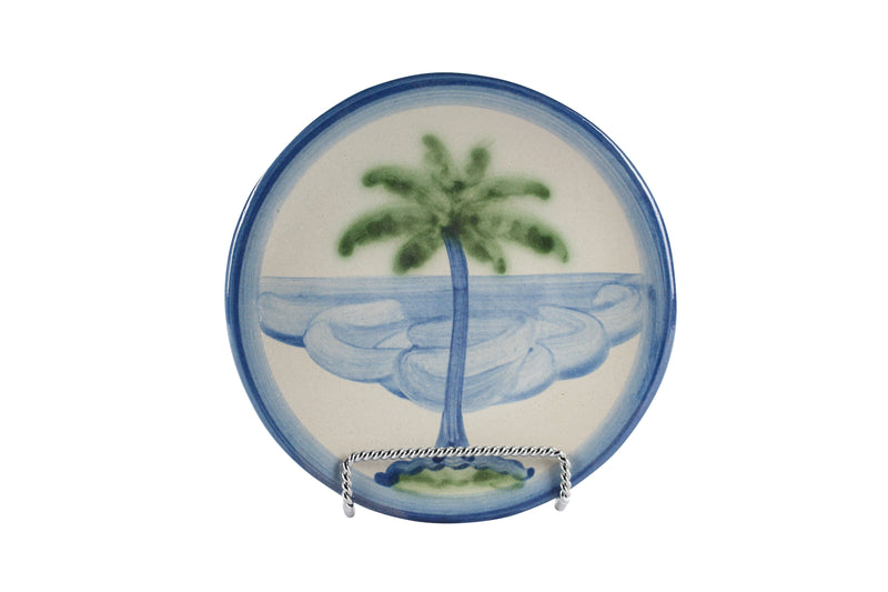 "6"" Bread Plate - Palm Tree"