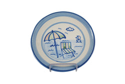"7.5"" Salad Plate - Beach Umbrella"