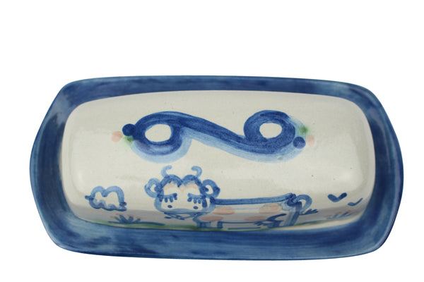 Butter Dish Lid With Base - Cow