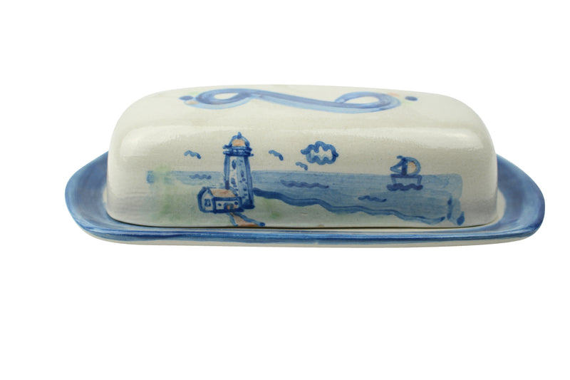 Butter Dish Lid With Base - Lighthouse