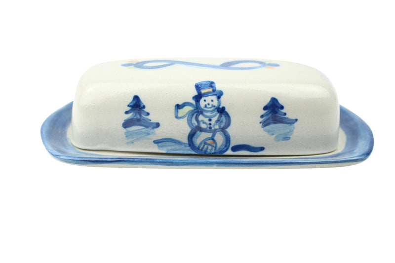 Butter Dish Lid With Base - Snowman