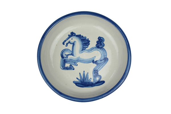Pasta Plate - Blue Horse