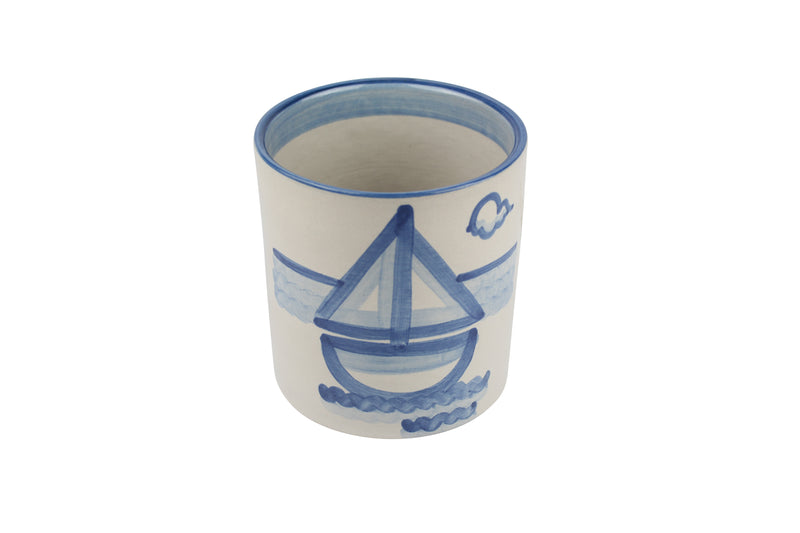 "5.5"" Utensil Jar - Sailboat"