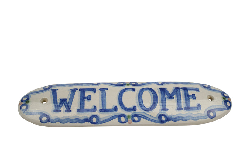 "12"" x 3"" House Plaque - Welcome"
