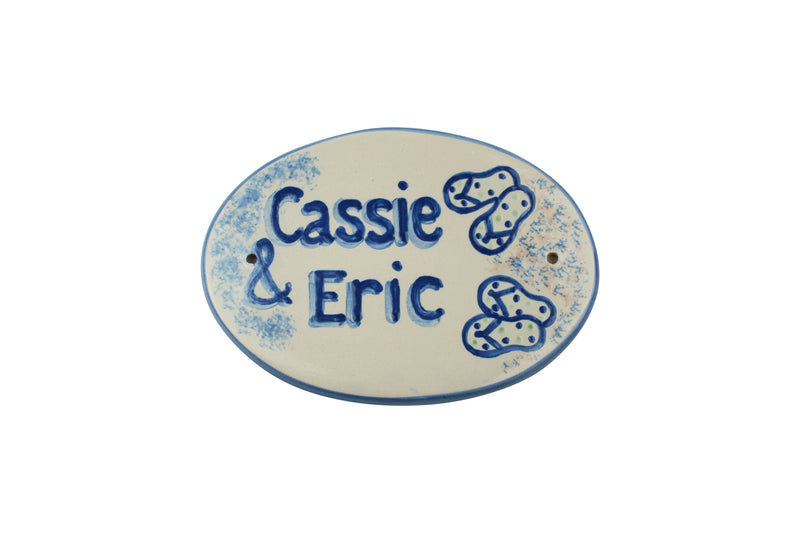 Personalized Plaque - Beach Wedding Medium Oval