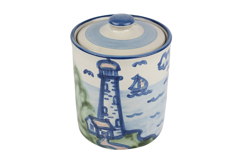 Medium Jar w/Lid - Lighthouse