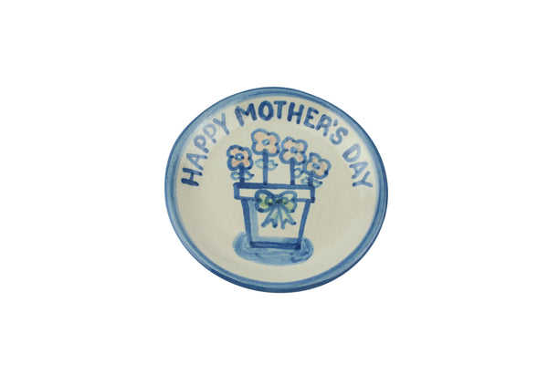 "4"" Coaster - Mother's Day w/Flowerpot"