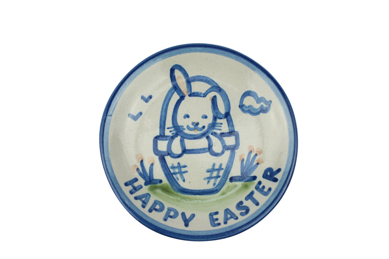 "4"" Coaster - Bunny w/Basket Happy Easter"