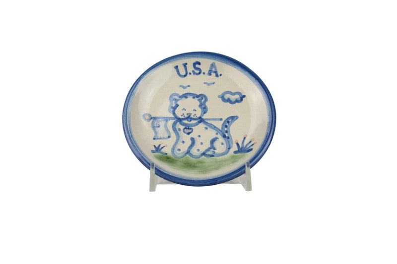 "4"" Coaster - Usa Dog"
