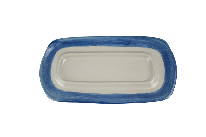 Butter Dish Base - Blue Band