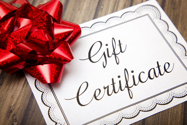Printed Gift Certificate