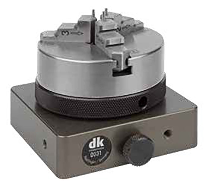267355 - DK Fixiersysteme Base Plate Rotary Table with 65mm Precision 3-Jaw Chuck