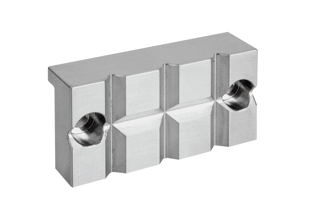 271500 - DK Fixiersysteme SWA39 50mm Stainless Steel Smooth Jaws - Small Prism