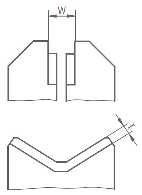 277300 - DK Fixiersysteme SWA39 Small Parts Clamp End Face V-Block - 6-55mm Technical Drawing