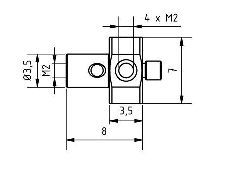 AM2 000 008 SSS - M2 5 Way Stylus Center - Technical Drawing