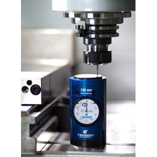 002402100 - Tschorn Zero Setter Micro 100mm with Magnet In Action in CNC Machine Tool
