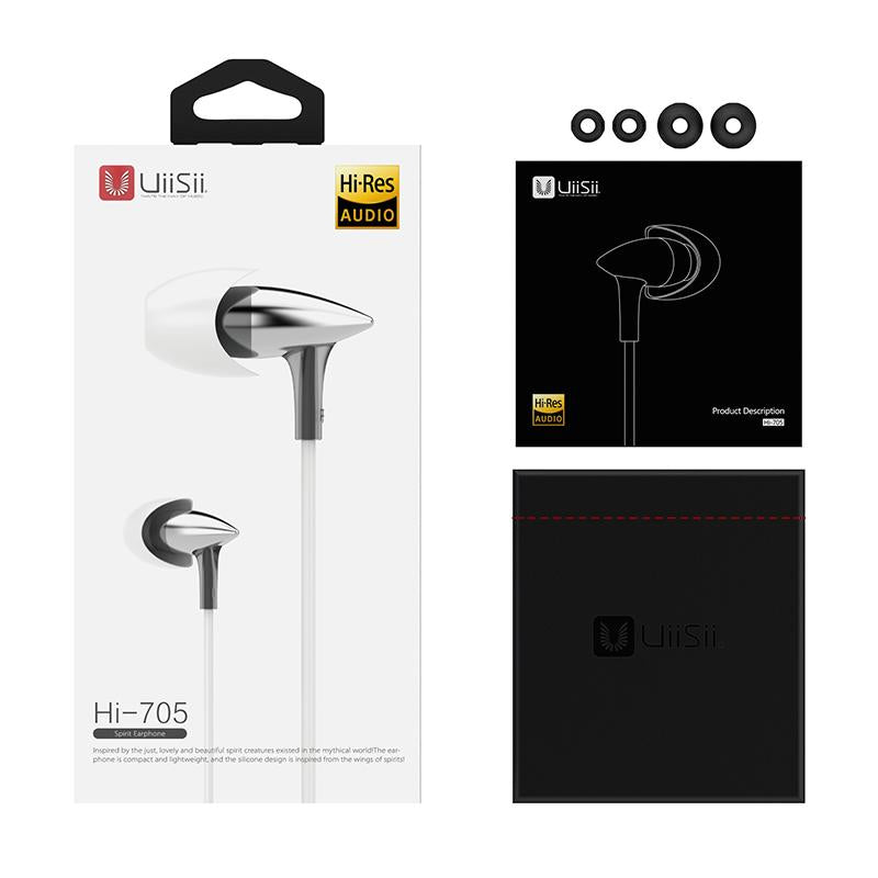 UiiSii HI705 Strong Bass Stereo Hi-Fi Earphones with MIC-Wholesale-Uiisii