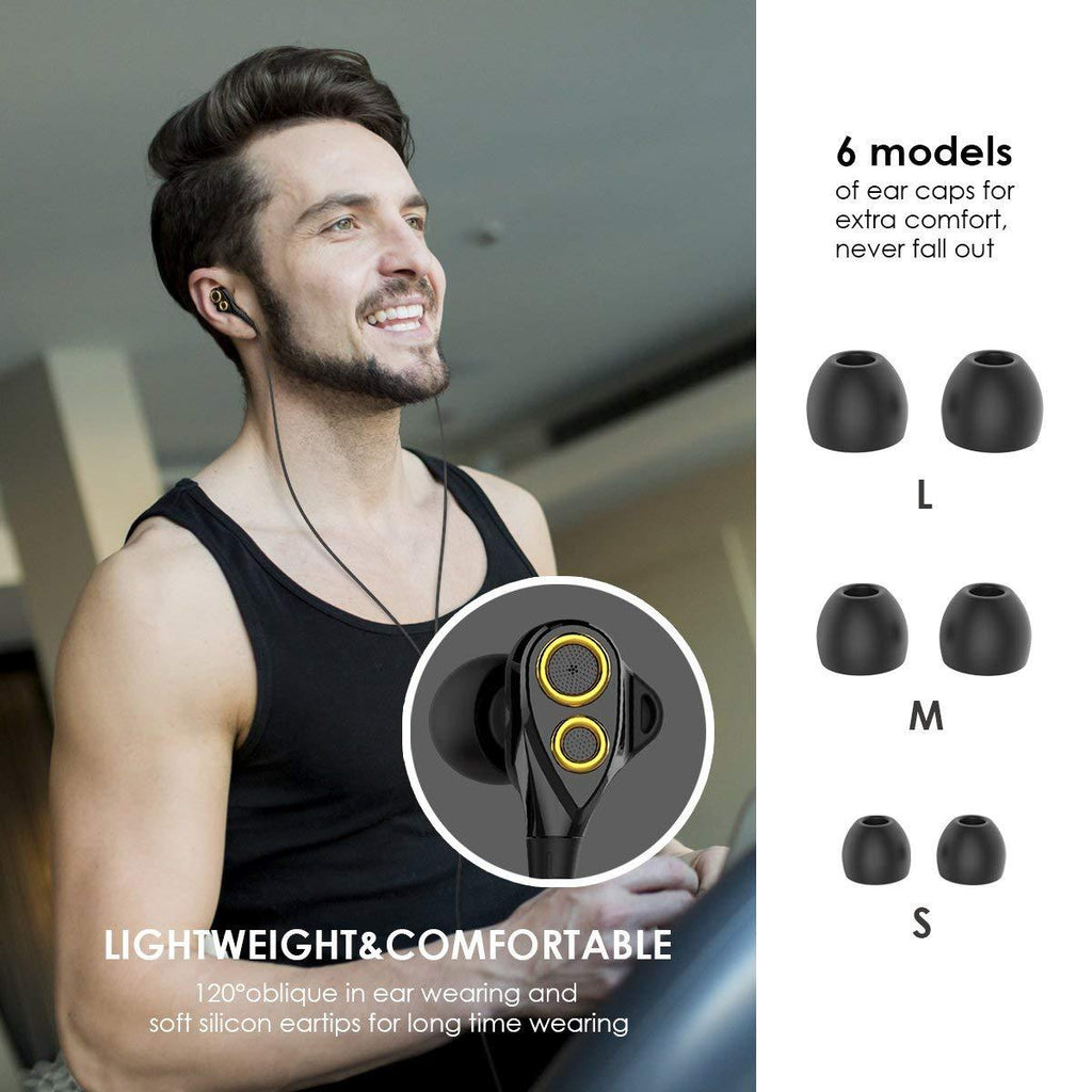 UiiSii T8 In-ear Stereo Dual Dynamic Drivers Earphones with Mic-Wholesale-Uiisii