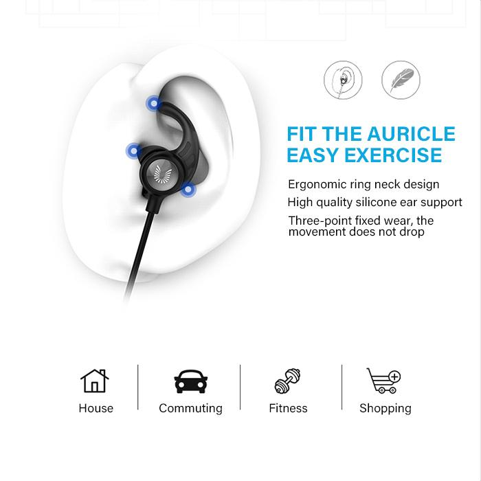 UIISII BT111 Wireless Bluetooth 5.0 Sports Running Earphone-Wholesale-Uiisii