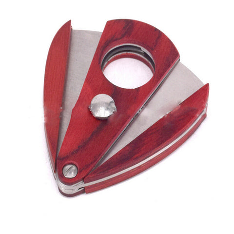 ShowJade Rosewood Cigar Cutter Stainless Double Blade Steel Cutter S