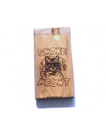 SMoke Cat finger wood dogout pipe with bat