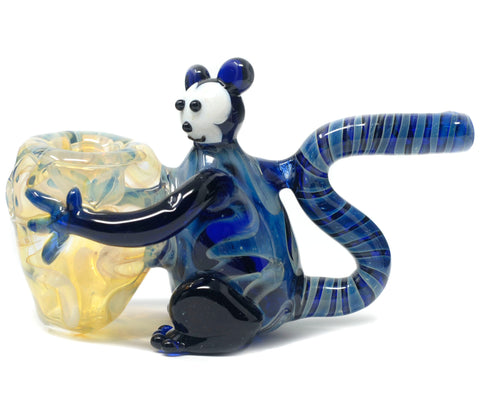 "4.5"" Blue Monkey Glass HandPipe"