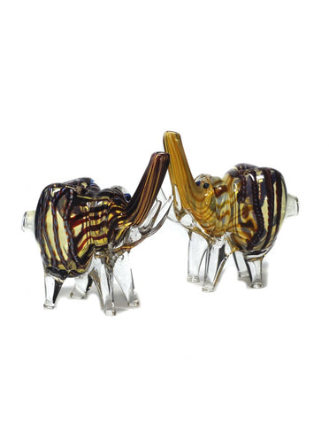 "3.5"" Glass elephant Pipe mix color"