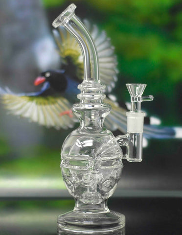 "10.5"" Faberge Egg Percs Glass Water Pipe"
