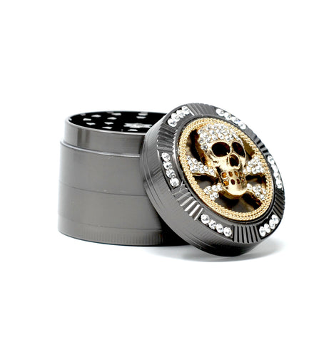 Skull Tobacco & Herb Grinder - 2 Inch & 4 Layers