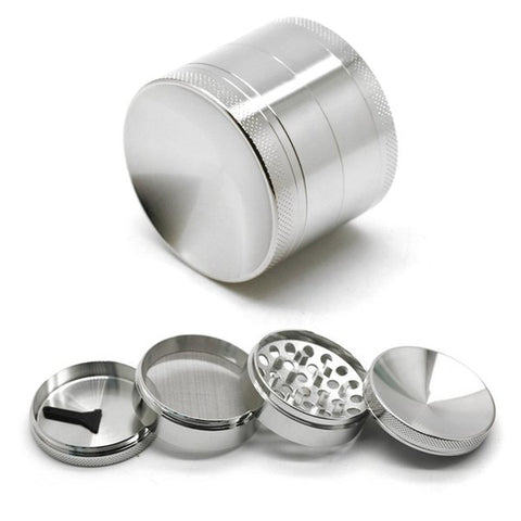 "Concave Shaped 2"" Metal Tobacco Herb Grinder,"