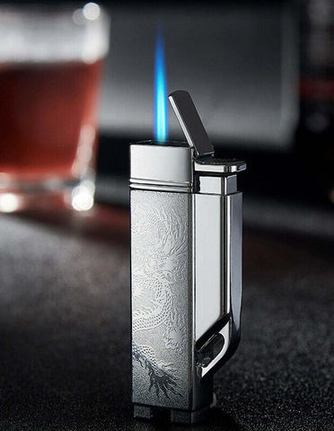 Focus Dragon Engraving Embossed Windproof Torch Lighter
