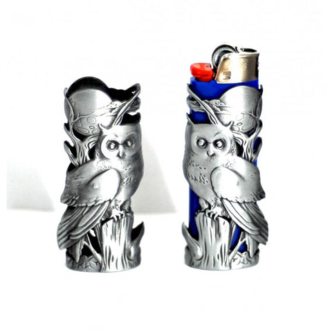 Owl Mystic Metal Lighter Case for BIC brand Lighter, 1pc