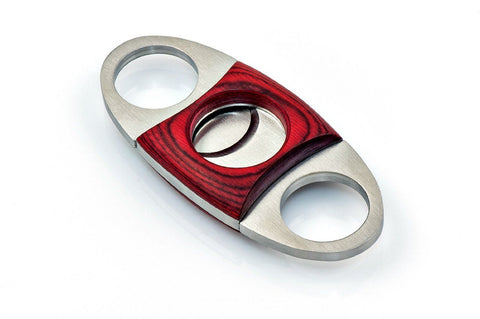 ShowJade Guillotine Cigar Cutter Rose Wood Stainless Double Blade Steel Cutter