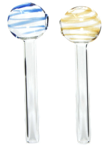 "4"" Swirl lollipops Glass Oil Burner Pipes"