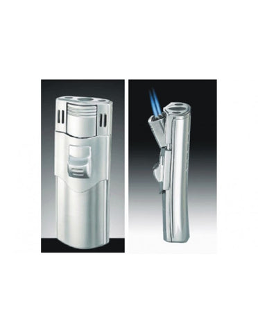 TIger Double Torch Flame Side Pull Refillable Cigar Lighter
