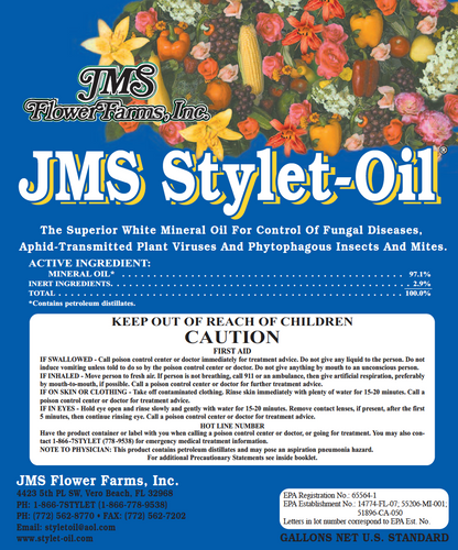Regular JMS Stylet-Oil Label